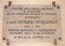 Giovanni Peterlongo, il sindaco esperantista
