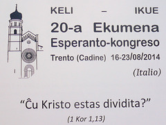 La 20-a Ekumena Esperanto-kongreso, Trento-Cadine, Italio