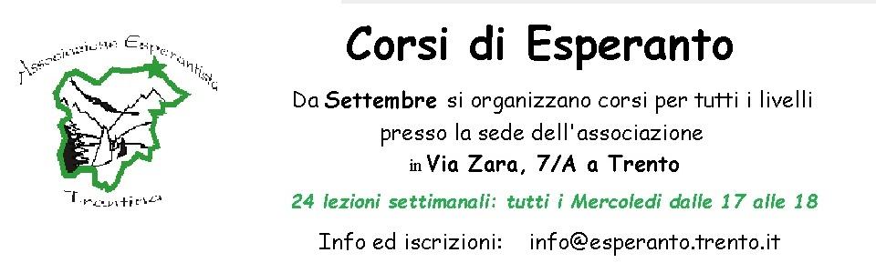 Corsi di Esperanto 2019-2020